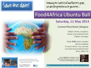 Food4Africa Ubuntu Ball - May 2013