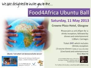 Food4Africa Ubuntu Ball 2013 - 11 May 2013